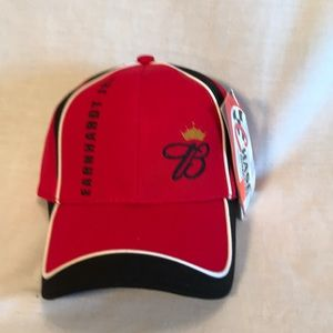 NWT Chase Authentics red and blk racing cap